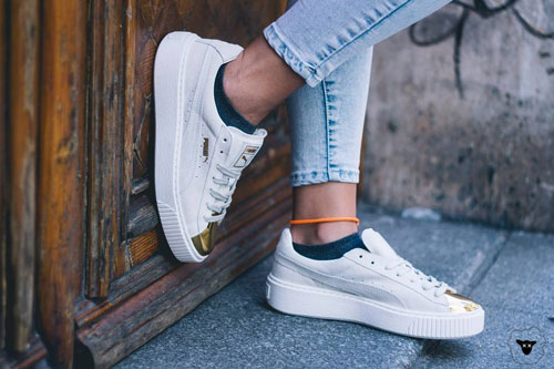 Puma Suede White Gold